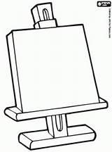 Easel Kleurplaat Kunst Drawing Coloring Ezel Preschool Kinderen Getdrawings Colouring Rembrandt Voor Explore Clip Teaching sketch template