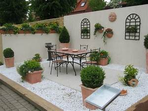 Wanddeko Für Garten : die besten ideen f r terrassengestaltung 69 super ~ Watch28wear.com Haus und Dekorationen