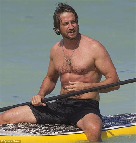 Gerard Butler has Spartan physique even without help of ...