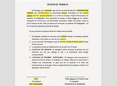 Carta de Oferta de Trabajo Visa Temporaria Chile ~ Blog