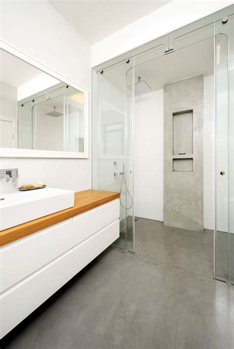 17+ Concrete Bathroom Flooring Designs, Ideas Design