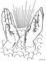 Praying Hands Tattoo Coloring Drawing Printable Line Dove Rosary Sketch Flowers Cupped Getdrawings Drawings Tattoos Library Clipart Getcolorings Popular Sketchite sketch template