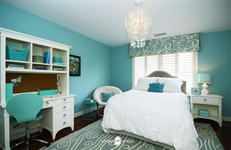Ocean Inspired Aqua Girls' Bedroom Transitional