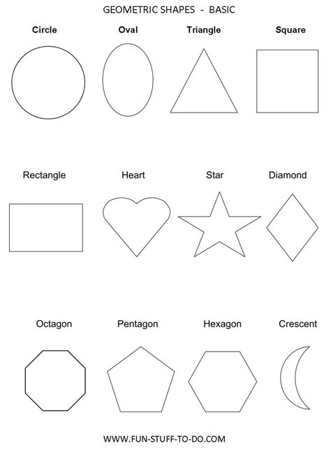 Geometry Shapes Worksheets | Examples and Forms