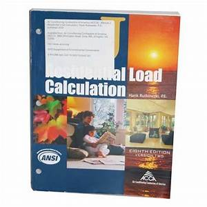 Manual J Residential Load Calculation  8th Edition