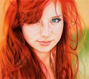 Redhead Girl (Hyperrealistic Ballpoint Pen Rendering ...