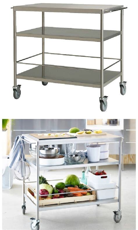 grundtal kitchen cart best 25 stainless steel kitchen cart ideas on pinterest kitchen trolley kitchen trolley cart