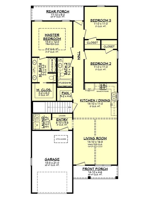 House Plan 56702 Traditional Style with 1292 Sq Ft 3