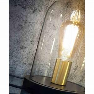 Cloche En Verre Avec Socle : lampe d corative en bois et verre chez ksl living ~ Teatrodelosmanantiales.com Idées de Décoration