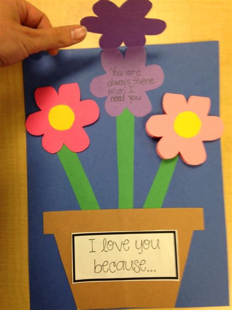 craftivity  flower shaped gift book  mothers day