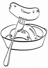 Sausage Coloring Pages sketch template