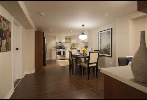 open concept basement kitchen  dining area income