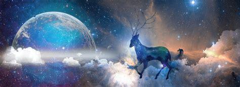 Galaxy Elk Sen Romantic Creative Starry Sky Cloud Sea