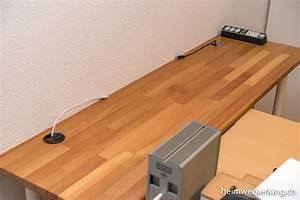Schreibtisch Mit USB Ladestation Im Eigenbau Heimwerkerking