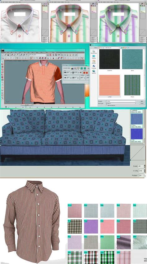 mapping or draping for apparel upholstery or home