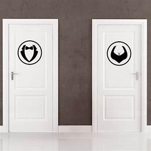 Stickers Porte Salle De Bain : sticker porte homme et femme stickers salle de bain et ~ Dailycaller-alerts.com Idées de Décoration