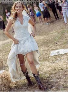 short country wedding dresses with boots 2017 2018 With country wedding dress with boots