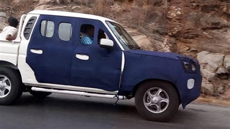 Spied 2016 Mahindra Scorpio Getaway Spotted Testing In