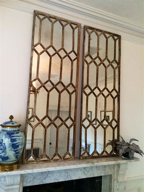 decorative architectural window mirror panels vintage