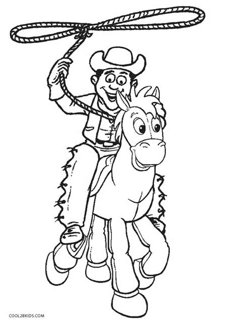 printable cowboy coloring pages  kids coolbkids