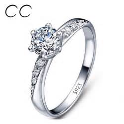 minimalist wedding rings aliexpress buy classic simple design white gold plated engagement rings for cz
