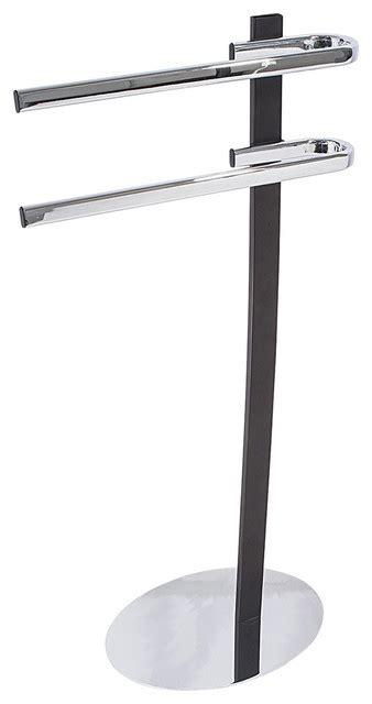 porte serviettes sur pied noir salle de bains wenko porte serviette sur pied design bahbe