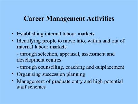 Careers And Career Management