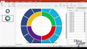 Ms Powerpoint Tutorial  Multi Doughnut Diagram