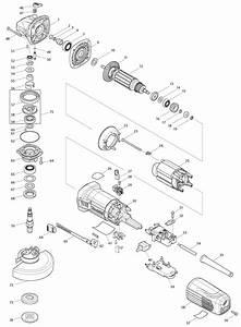 Ga5042c Makita Angle Grinder Parts