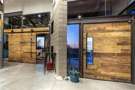 reclaimed wood pivot door sliding door porter barn wood