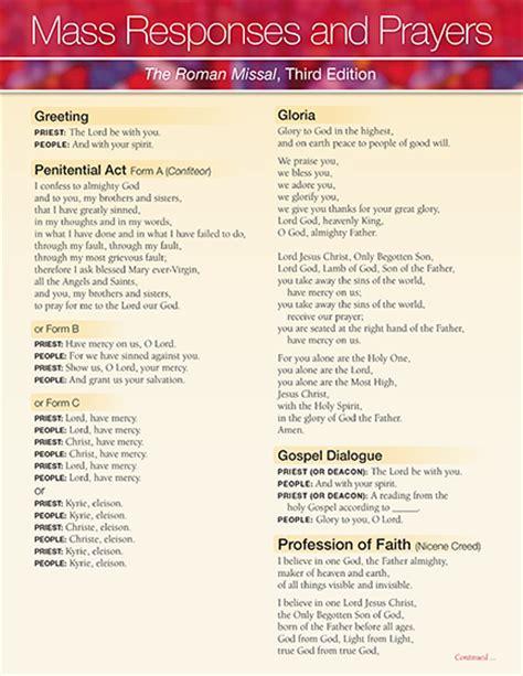 boston prayer time table catholic mass prayers responses catholictv