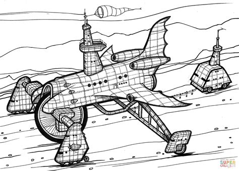 Space Shuttle Kleurplaat by Space Shuttle 4x4 Coloring Page Free Printable Coloring