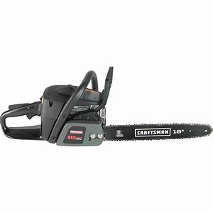 Craftsman 16 U0026quot  38cc Gas Chain Saw - Case Included