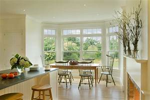 Bay window breakfast nook ideas kitchen traditional with