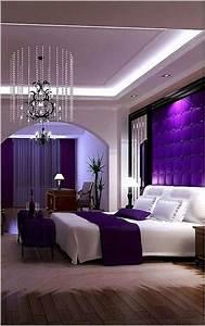 Purple, And, Beige, Bedroom, Elegant, 50, Inspiring, Romantic, Master, Bedroom, Ideas, For