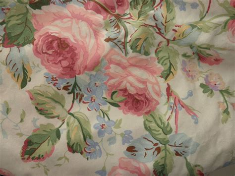 shabby chic ralph lauren cotton queen fitted sheet floral