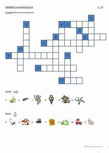 alphabet crossword puzzle worksheet free esl printable With big letter crossword puzzles