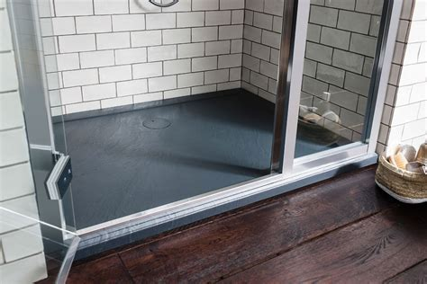 Rectangular 35mm Grey Slate Acrylic Shower Tray in 35mm