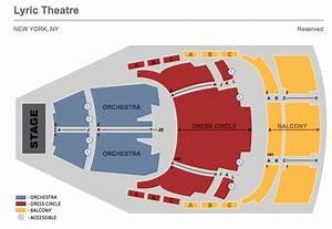 Lyric Theatre Broadway Seating Charts