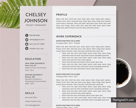 An employer may need either one of these file formats. Professional Resume Template / CV Template for Job Application, Curriculum Vitae, Simple CV ...