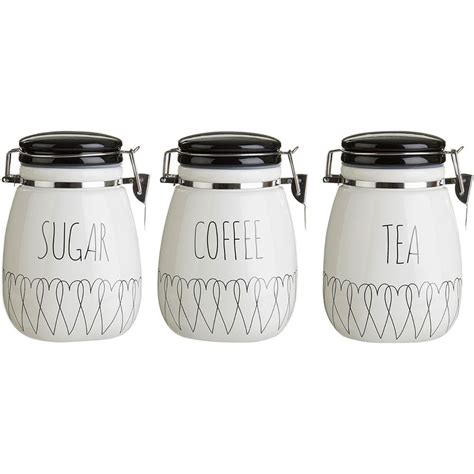 kitchen tea coffee sugar canisters heartlines tea coffee sugar canisters kitchen storage