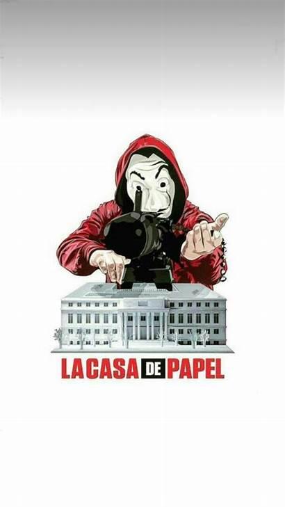 Papel Casa Wallpapers Heist Money Mask Cave