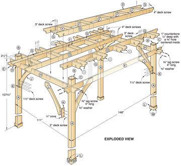 pdf diy simple pergola building plans simple wood