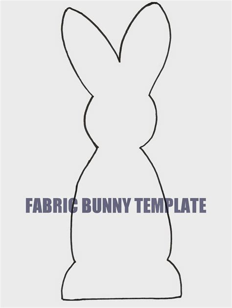 bunny template ben franklin crafts and frame shop wa easy diy easter fabric bunny