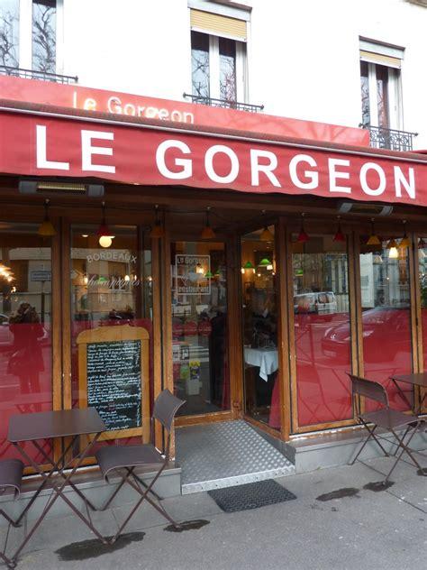cuisine boulogne restaurant quot le gorgeon quot à boulogne billancourt une