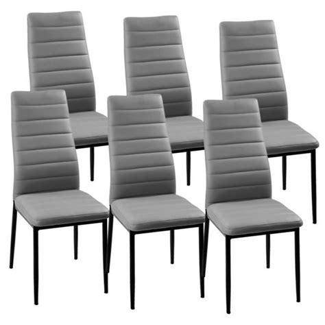 chaises cdiscount chaise grise giga matelassé lot de 6 achat vente