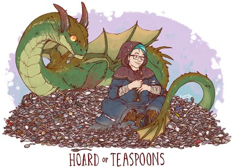 Hoard Of Teaspoons Print · Iguanamouth · Online Store