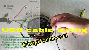 How To Hard Wire A Usb Cable  Splice It And Extend It