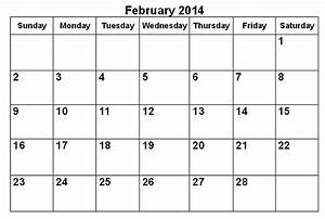 image gallery feb 2014 calendar With google drive calendar template 2014