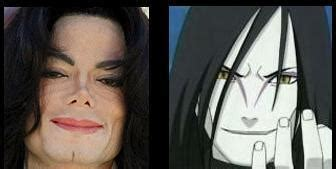 Orochimaru is Michael Jackson Twin   Anime Jokes Collection